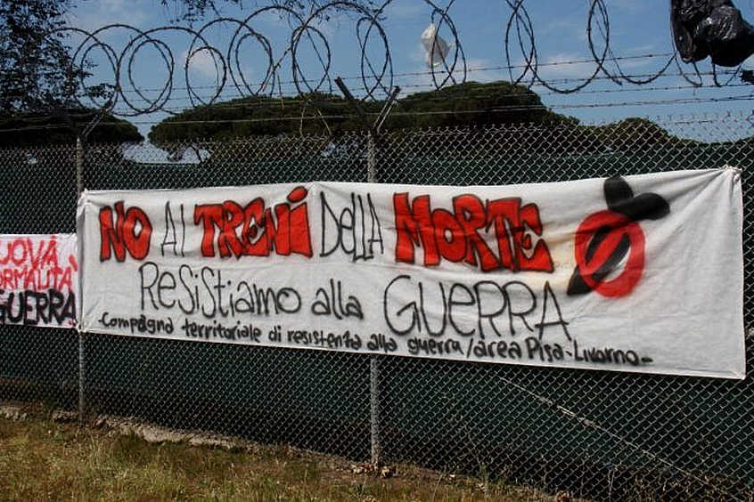 2 giugno manifestazione a Camp Darby