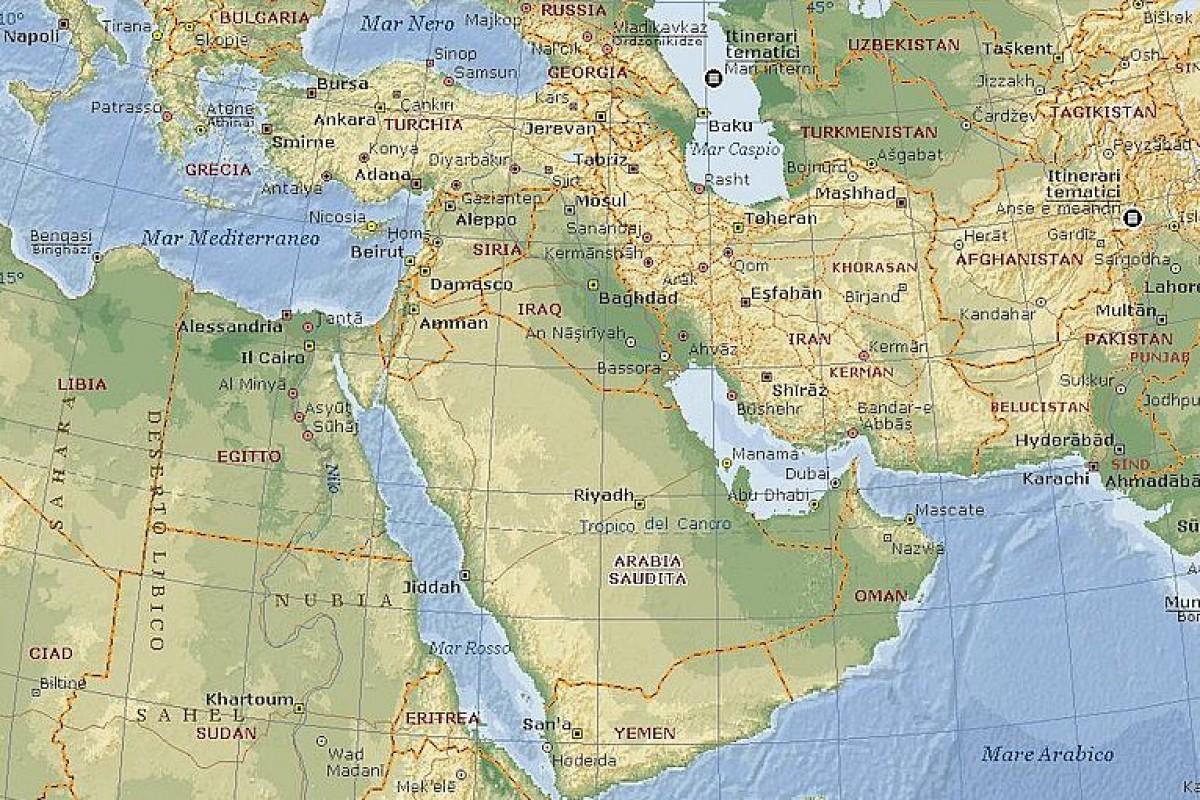 Politica Cartina Geografica Medio Oriente.Medioriente Ancora Di Salvezza Del Capitalismo Italiano
